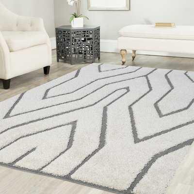 Artz White/Gray Lines Area Rug - Wayfair