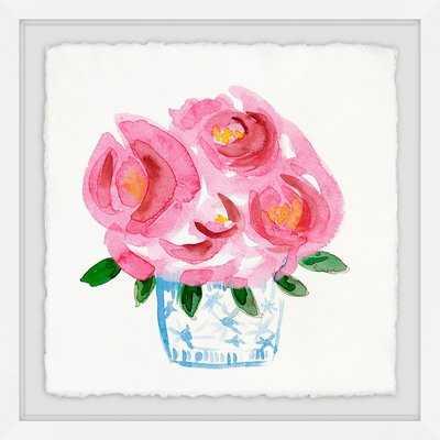 'Pink Blooms' Framed Print - Wayfair
