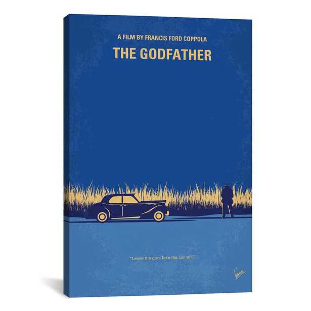 The Godfather Minimal Movie Poster by Chungkong Canvas Wall Art, Multi - Home Depot
