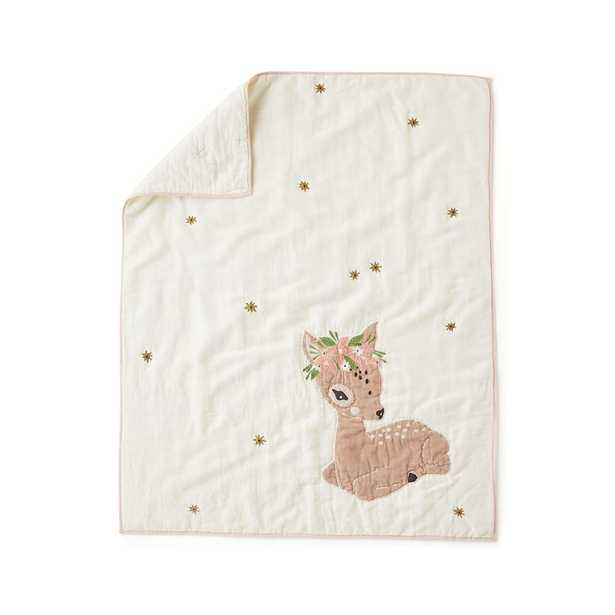 Little Fawn Baby Quilt - Crate and Barrel