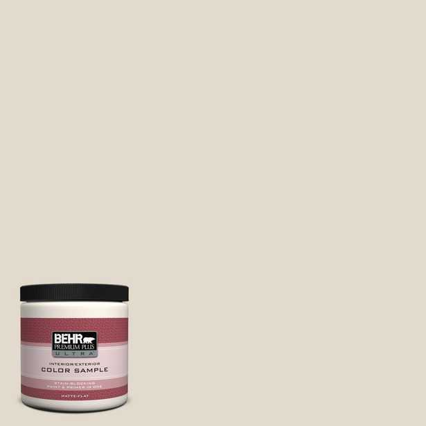 BEHR Premium Plus Ultra 8 oz. #W-B-720 Oyster Matte Interior/Exterior Paint and Primer in One Sample, Whites - Home Depot