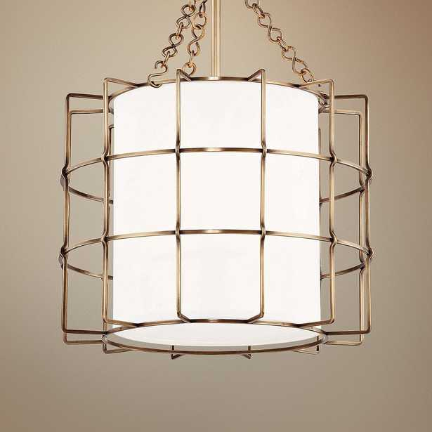 """Hudson Valley Sovereign 16"""" Wide Aged Brass Pendant Light - Style # 59A84 - Lamps Plus"""