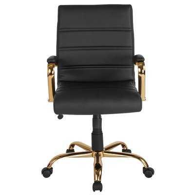 Leaman Task Chair, Black/Gold - Wayfair