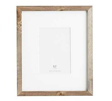 Wood Gallery Single Opening Frame, 5x7 - Gray - Pottery Barn