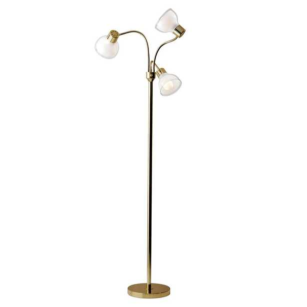 Adesso Presley 69 in. Gold Floor Lamp - Home Depot