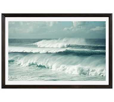 "Kai Mana by Lupen Grainne, 42 x 28"", Ridged Distressed Frame, Black, Mat - Pottery Barn"