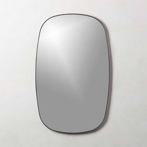 Infinity Black Oblong Wall Mirror - CB2