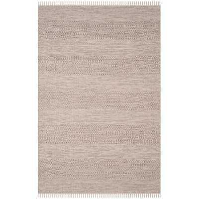 Oxbow Hand-Woven Ivory/Steel Grey Area Rug - Wayfair