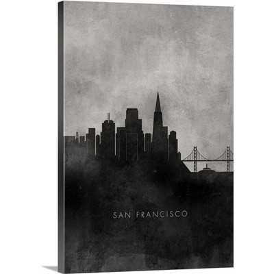 'Minimalist San Francisco Skyline' by Circle Art Group Graphic Art on Canvas - Wayfair