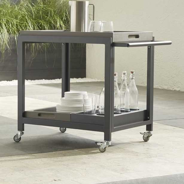 Alfresco II Grey Cart with Casters - Crate and Barrel