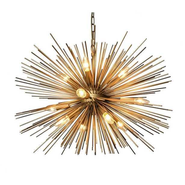 Y Decor 12-Light Gold Chandelier - Home Depot