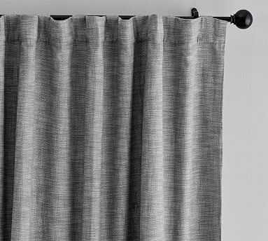 "Seaton Textured Blackout Curtain, 84"", Gray - Pottery Barn"