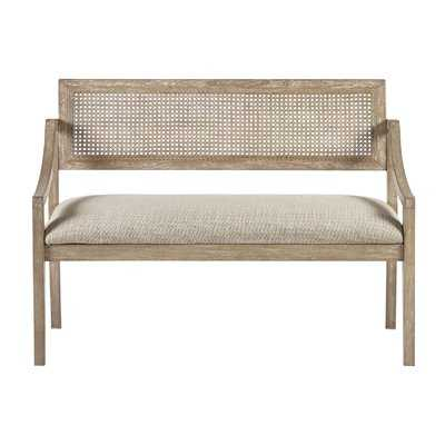 Deleon Cane Arm Wood Bench - Wayfair