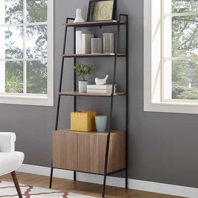 Caldwell Metal and Wood Ladder Bookcase - Wayfair