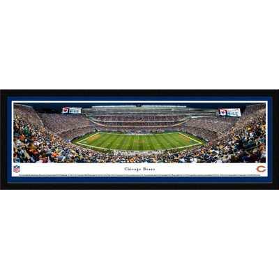 NFL Chicago Bears 50 Yard Night Framed Photographic Print - Wayfair