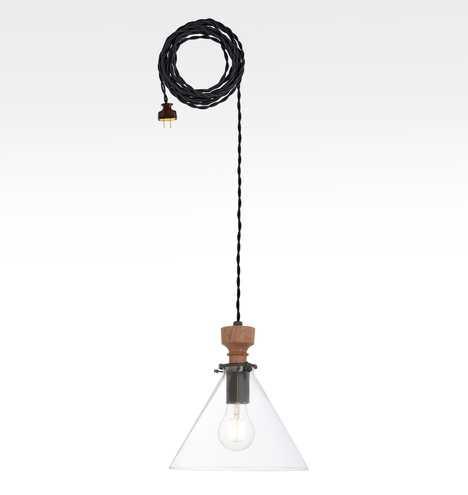 "Nehalem 2-1/4"" Fitter Plug-In Cord Pendant - Rejuvenation"