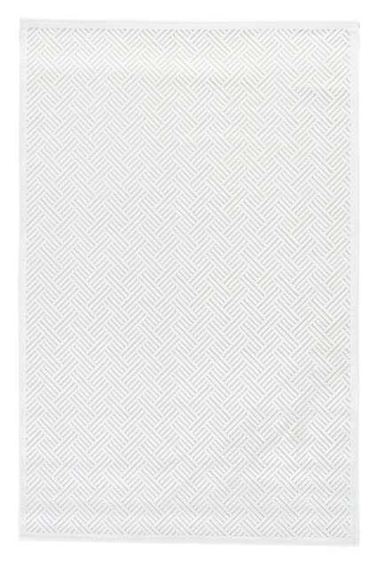 """Thatch Geometric White Area Rug (7'6"""" X 9'6"""") - Collective Weavers"""