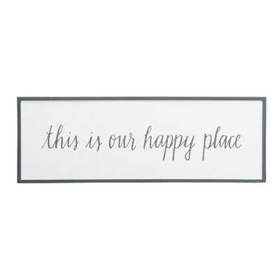 Our Happy Place - Picture Frame Textual Art Print on Wood - Birch Lane