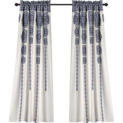 Bremond Ikat Room Darkening Thermal Rod Pocket Curtain Panels (SET OF 2) - AllModern