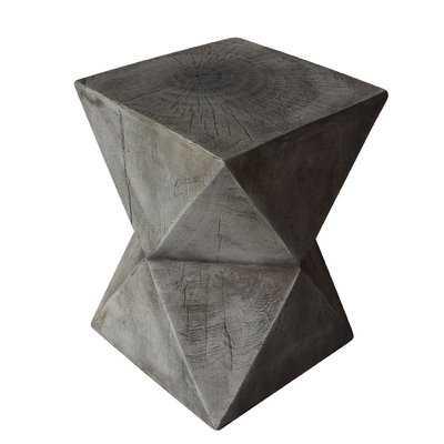 Fern Outdoor Light-Weight Concrete Accent Table - Wayfair