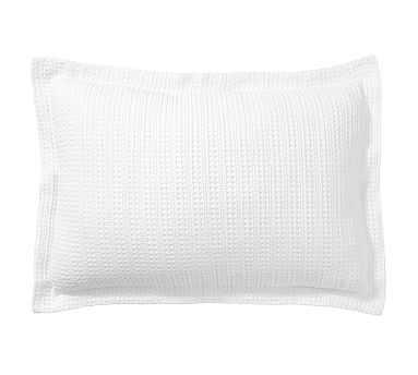 Honeycomb Sham, Standard, White - Pottery Barn