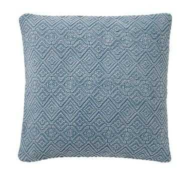 """Washed Diamond Pillow Cover, 20"""", Blue Dusk - Pottery Barn"""