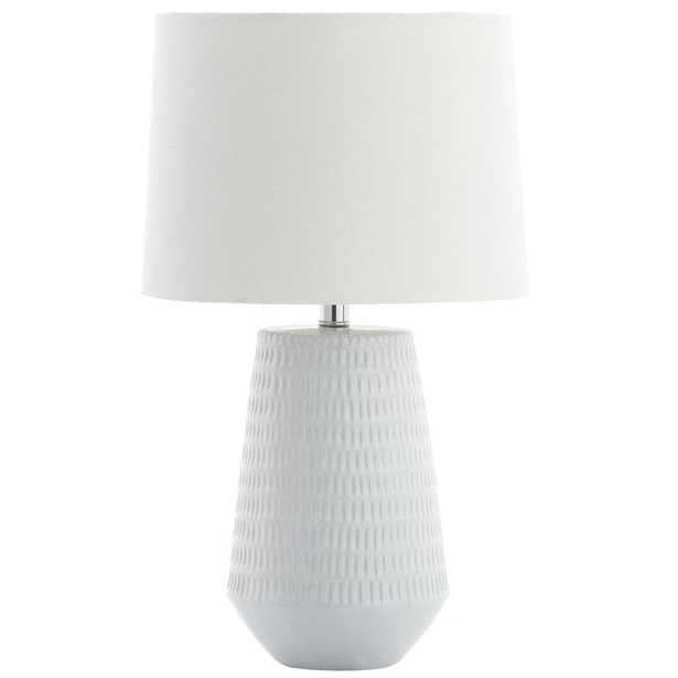 Safavieh Stark 18 in. White Table Lamp - Home Depot