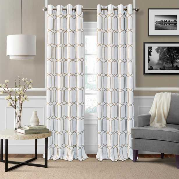 Elrene Kaiden Taupe (Brown) Single Blackout Window Curtain Panel - 52 in. W x 95 in. L - Home Depot