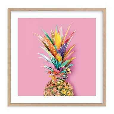 Pineapple Crown Wall Art by Minted(R), 11 x 11, Natural - Pottery Barn Teen