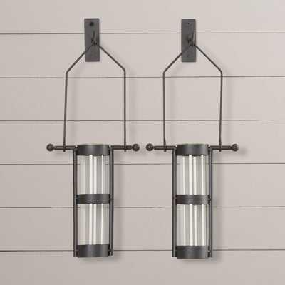 Hanging Cylinder Wall Vase, Set of 2 - Wayfair