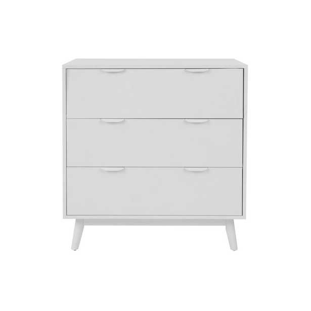 StyleWell Amerlin White Wood 3 Drawer Chest of Drawers (31.5 in W. X 32.68 in H.) - Home Depot