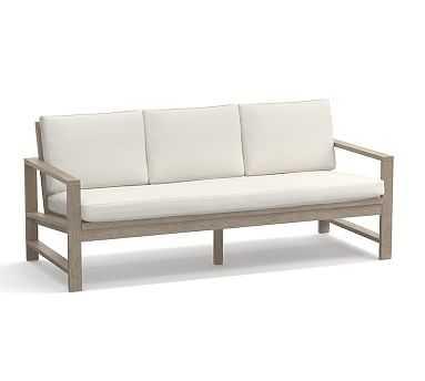 Indio Sofa Cushion, Outdoor Canvas, Natural - Pottery Barn
