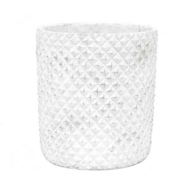 White Flower Pot - Home Depot