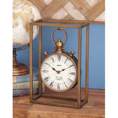 Amsterdam Metal Table Clock - Wayfair