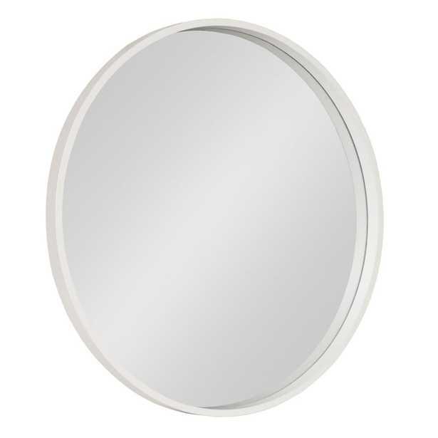 Travis Round White Wall Mirror - Home Depot