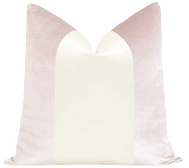"PANEL :: Faux Silk Velvet // Ballet + Alabaster - 12"" X 18"" - Little Design Company"
