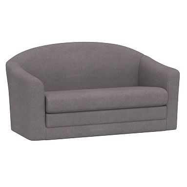 Ashton Sleeper Sofa, Enzyme Washed Canvas Light Gray - Pottery Barn Teen