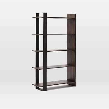Logan Bookshelf - Tall - Smoked Brown - West Elm