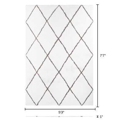 Diamond Shag Area Rug - Wayfair