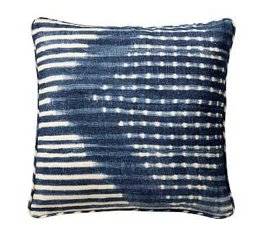 "Shibori Diamond Pillow Cover, Blue, 20"" - Pottery Barn"