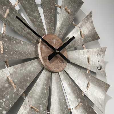 "Oversized Windmill 28.5"" Wall Clock - Wayfair"