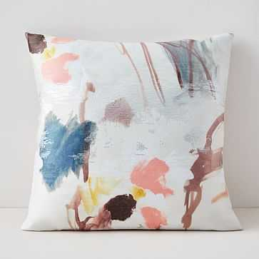 """Gilded Watercolor Brocade Pillow Cover, 20""""x20"""", Multi - West Elm"""