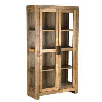 Abbey Solid Curio Flat Back Cabinet - Wayfair