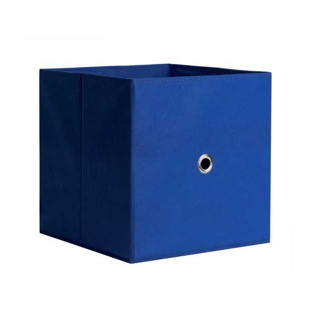 Full Fabric Drawer 12.5 in. x 12.5 in. Royal Blue Fabric Storage Bin - Home Depot