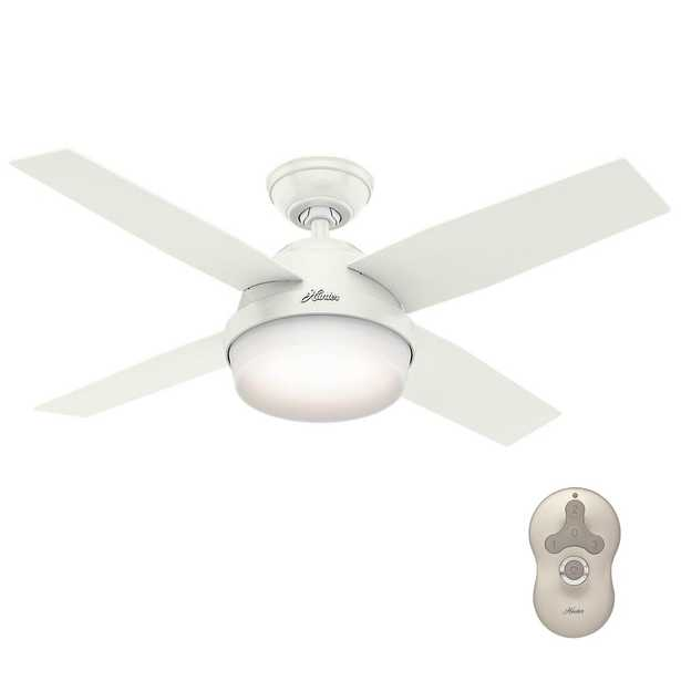 Hunter Dempsey 44 in. LED Indoor Fresh White Ceiling Fan with Universal Remote - Home Depot