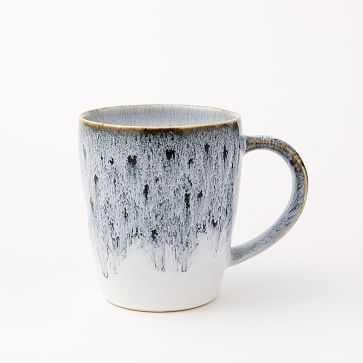 Reactive Glaze Mug, Black + White, Set of 4 - West Elm