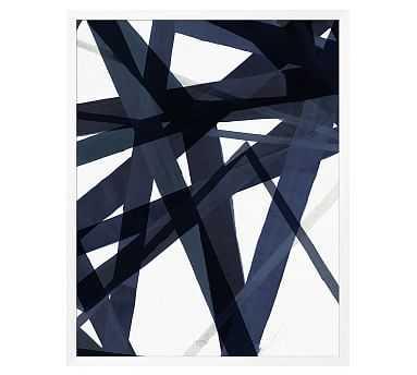 "Indigo Matrix Framed Print, 42 x 53"" - Pottery Barn"