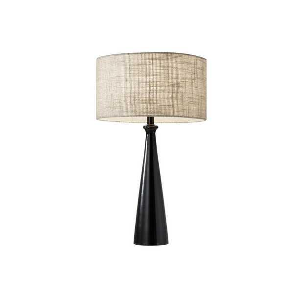 Adesso Linda 21.5 in. Black Table Lamp - Home Depot