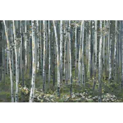 'Magical Green Forest' Print on Wrapped Canvas - Wayfair