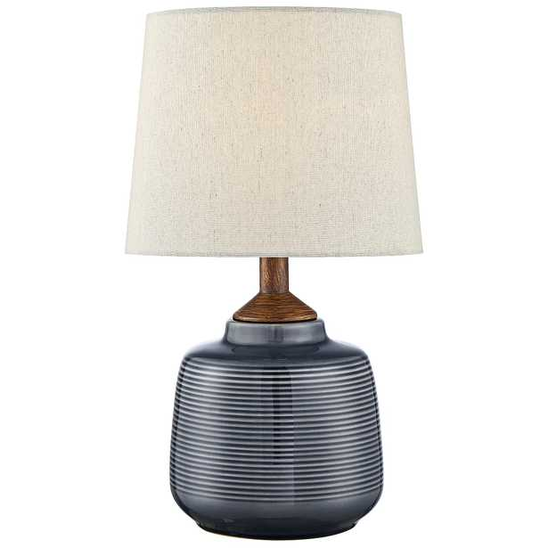 """Lite Source Lismore 17"""" High Blue Ceramic Accent Table Lamp - Style # 69R44 - Lamps Plus"""